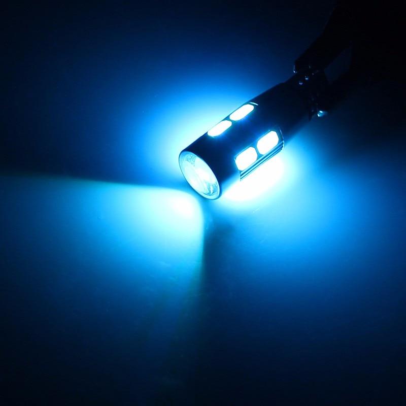 2PCS Car Styling Car Auto LED T10 Canbus 194 W5W 10 SMD 5630 LED Light Bulb No Error LED Light Parking T10 LED Car Side Light