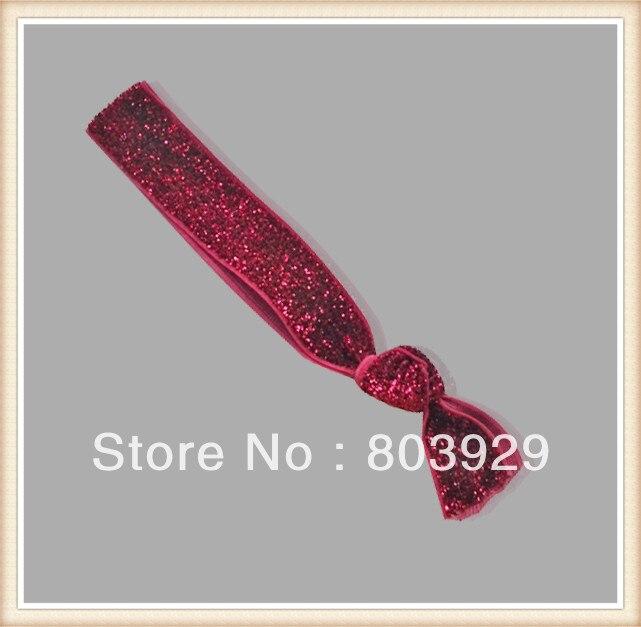 5 8 Stretch Metallic Velvet Ribbon Hair Tie