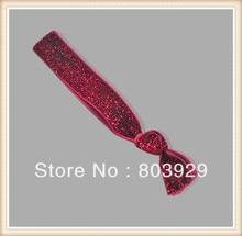 "5/8 ""Trecho Metallic Velvet Ribbon Laço de Cabelo"