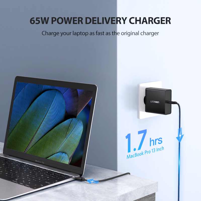 Ugreen PD 65W Charger USB type C Charger for Apple MacBook Air iPad Pro Samsung ASUS Acer Tablet Charger for Nintendo Switch 1