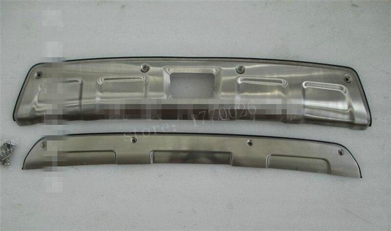 stainless steel Front + Rear Bumper Skid Protector Guard Plate For Subaru XV Impreza Hatchback 2012-2015 Subaru XV 2PCS/SET