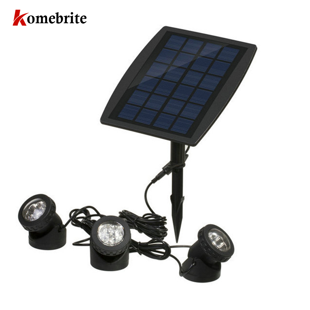 Pool Light Solar Underwater Spotlight Waterproof Submersible LED Lights for Garden Pond Swimming Pool Beleuchtung Decoration 10leds rgb led underwater light pond submersible ip67 waterproof swimming pool light battery operated for wedding party