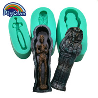 Halloween Funny Coffin Mummy Silicone Fondant Molds Chocolate Mould Kitchen Baking Cake Decorating Sugar Craft Tools
