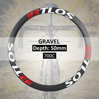 gravel carbon hoops disc road wheels Cyclocross 50mm depth carbon rims GX50