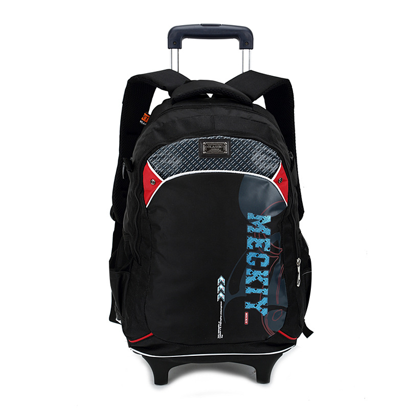 Children Trolley Backpack School Bags Grils Wheeled Bag Student Detachable Rolling Backp ...