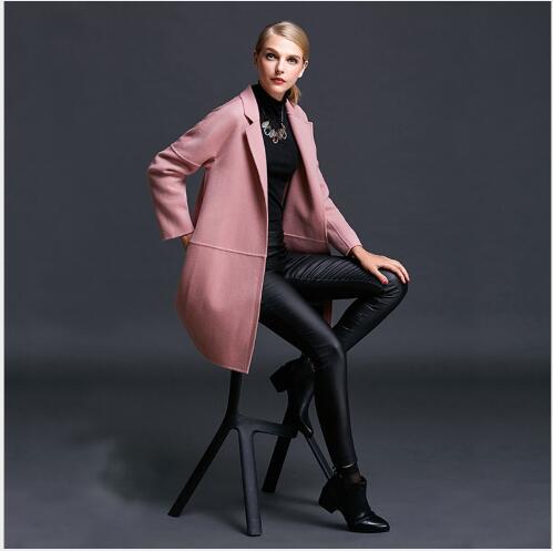 2018 Laine Nouveau De Femmes Face Veste Lâche En Double Oversize Section Manteau Mode Manteaux Cachemire Hiver Femme Longue Casual xIAtxqw
