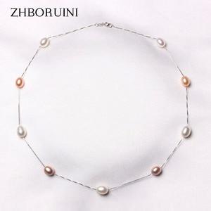 ZHBORUINI Fine Pearl Necklace
