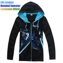LOL League Game Teams Jersey Hooded Sweater Plus Velvet Hoodies Sweatshirts Jackets Luminous Light Emitting at