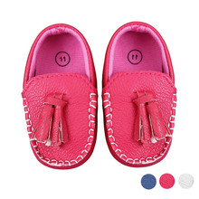Toddler Baby Faux Leather Loafers Soft Flat Boat Shoes Girls Baby Kids Solid Crib Babe Infant Toddler Cute Bow Baby Shoes #ES(China)
