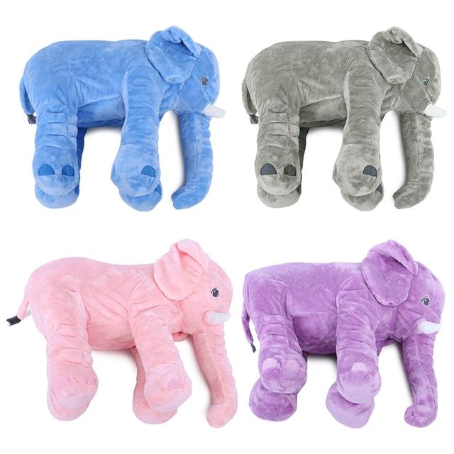 Conforto Macio Elefante Brinquedos de Pelúcia Travesseiro