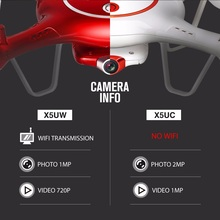 SYMA X5UW & X5UC FPV RC Drone With 720P WiFi 2MP HD Camera 2.4G 4CH 6Axis