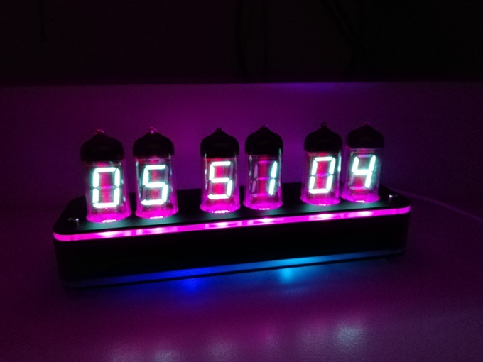 6 Bit IV11 LED Glow Digital Clock Nixie Tube Clock Kit DIY Electronic Retro Desk Clock 5V Micro USB Powered
