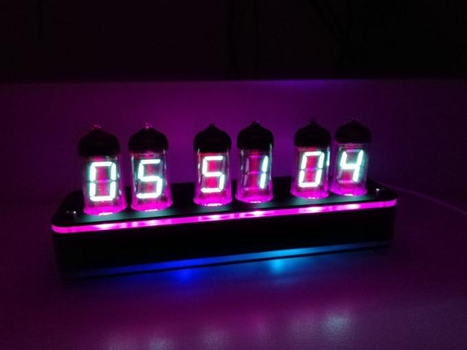 6 Bit IV11 LED Glow Digital Clock Nixie Tube Clock Kit DIY Electronic Retro Desk Clock 5V Micro USB Powered