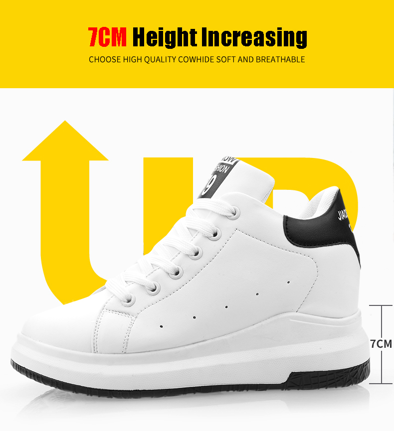 Hide Heel Wedge Leather Casual Shoes Woman 2017 Fashion Spring Lace Up Ladies Shoes Breathable Women White Shoes Superstars ZD39 (33)