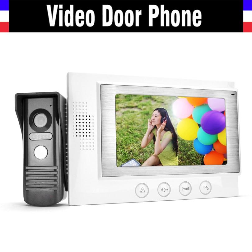 7 Video Door Phone  Intercom  Doorbell System Video IR Night Vision Camera Intercom Door bell Doophone Home Security Kits средство защиты от комаров argus 75 мл 1382282