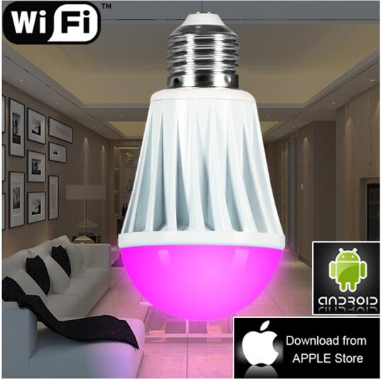 smart intelligent led lighting led wifi zigbee bulbs smartphone remote control