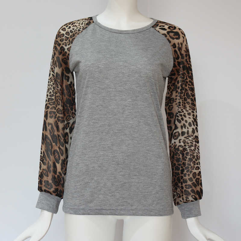 5d448141a80 IYAEGE Womens Tops And Blouses Leopard Long Sleeve Blouse Casual Patchwork  Shirts Women Tunic Tops Tee Blusas Plus Size 5XL