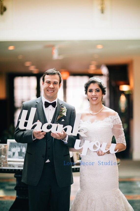 Merci signe de mariage signes de mariage merci découpe Photo Prop-signes de mariage pour cartes de remerciement