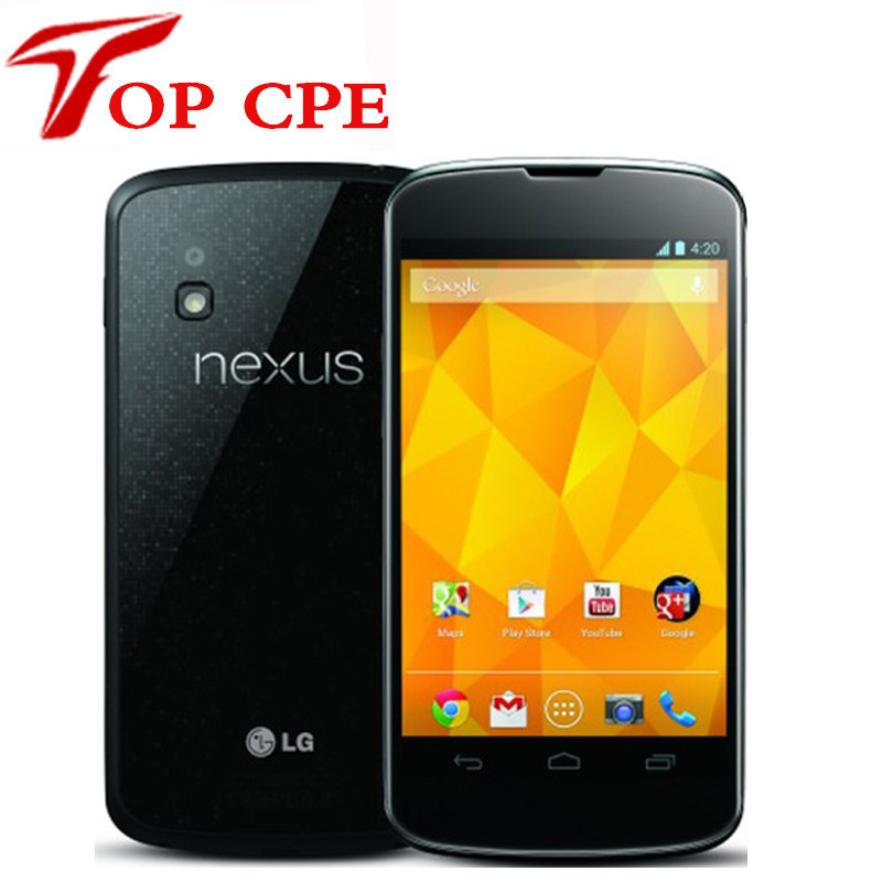 "E960 Original Unlocked LG Nexus 4 E960 3G Wifi GPS 8GB/16GB ROM 2GB RAM 8MP Camera 4.7"" Android Smartphone Refurbished phone"