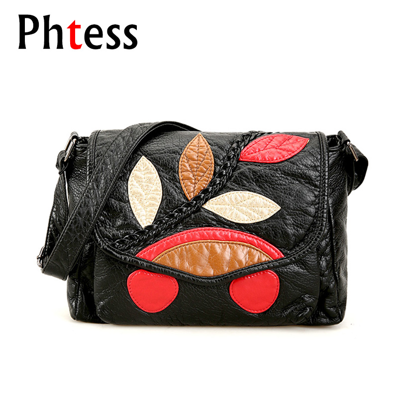 2018 Crossbody Vintage Bags For Women Black Flap Messenger Bags Pu Soft Leather Female Shoulder Bag Sac a Main Small Hand Bag