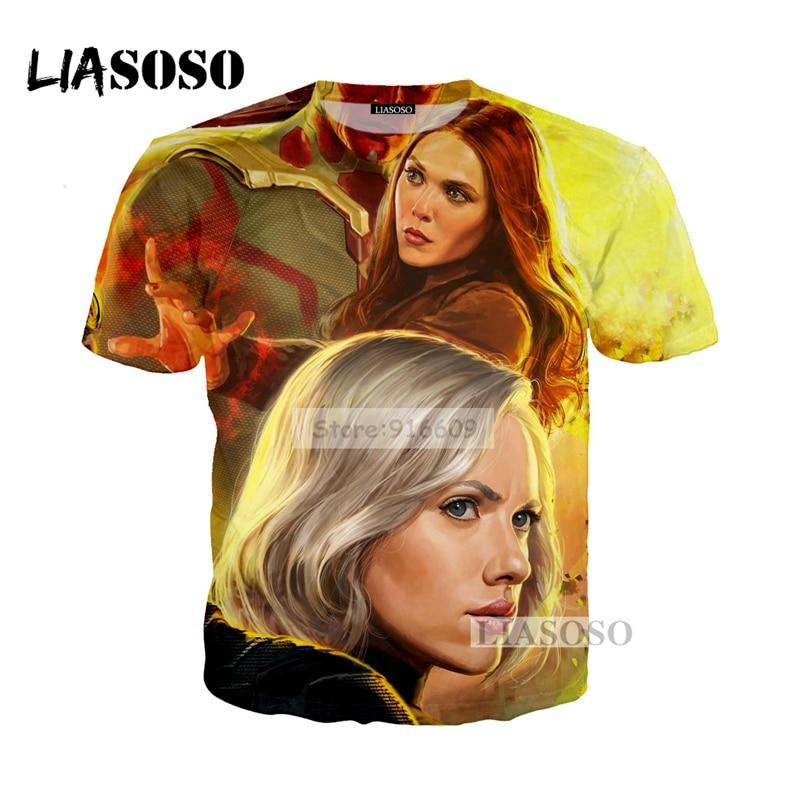 LIASOSO NEW Movie Avengers 3 Infinity War Superhero Thanos Black Widow Tees 3D Print T shirt/Hoodie/Sweatshirt Unisex Tops G571