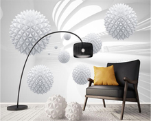 beibehang Modern minimalist individuality wallpaper stereo sphere geometric space mural background papel de parede 3d