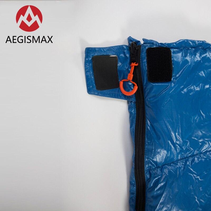 AEGISMAX SP Ultralichte 650FP 90% Witte eendendons slaapzak camping Outdoor en Familie Open het pakket kan worden gebruikt een quilt - 4