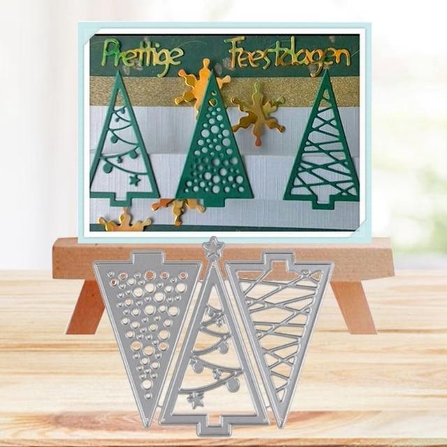 Kerstboom Uitsparing Metalen Stansmessen En Postzegels Decor Scrapbooking Staal Craft Gestanst Creëren Stempel Embossing Kaart Stencil