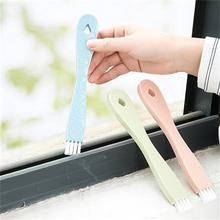 1 Juego de cepillos de limpieza de ventana cepillo de ranura de esquina muerta combinación de limpieza de huecos de ventana cepillo pequeño herramienta de escoba de baño de cocina