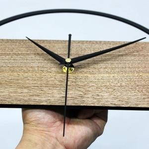 Image 5 - Gorący zegar ścienny Vintage prosty nowoczesny Design drewniane zegary do sypialni naklejki 3D ściana z drewna zegar dekoracyjny do domu cichy 12 cali