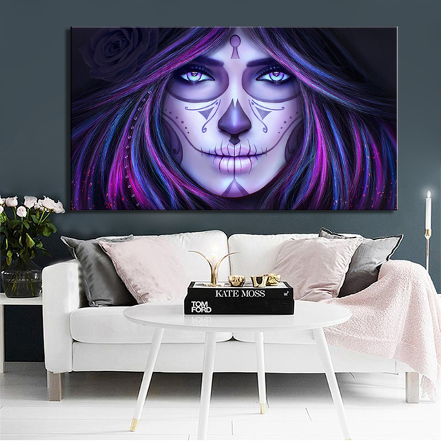 Mexico DAY OF THE DEAD Posters and HD Prints Wall Art Canvas Painting Girls Decorative Pictures for Living Room Decor Frameless