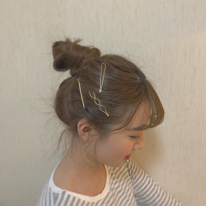 AOMU-1SET-Geometric-Irregular-Wave-Hair-Clips-for-Women-Minimalist-Metal-Gold-Color-Hairpin-Imitiation-Pearl