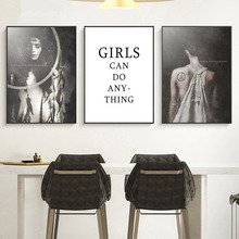 Girls Abstract Canvas Painting Nordic Poster Wall Art Poster Pop Art Prints Wall Pictures for Living Room Home Decor Unframed