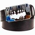 Novedad de La manera Hombres de la correa de metal hebilla de cinturones de Bolos negrita salvaje accesorios hip hop Street Dance hipper cintura cinturón exagerada