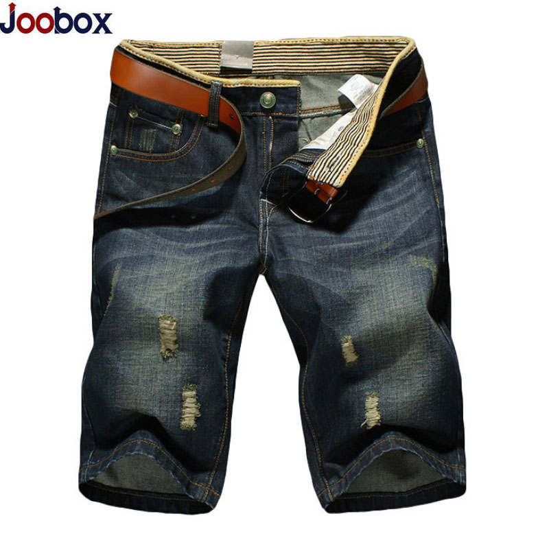 2017 Summer Men Short Jeans Holes Straight Men Jeans Shorts Fashion Brand Retro Distressed Stretch Ripped jean slim homme Pants high quality 2016 summer men plus short jeans men s fashion shorts men big sale summer clothes brand homme short pants