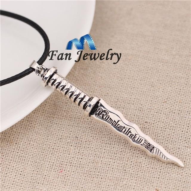 Favorite wholesale Once Upon A Time Rumpelstiltskin Dagger Pendant Necklace  YV19