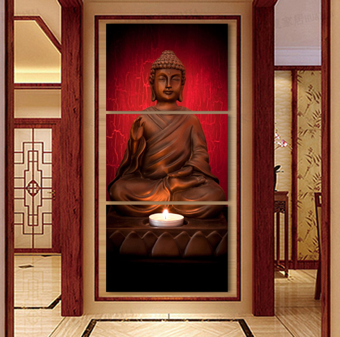 Framed art Modern Buddha Painting 3 Picture Home Decoration canvas art cheap modern canvas art canvas canvas oil paintings