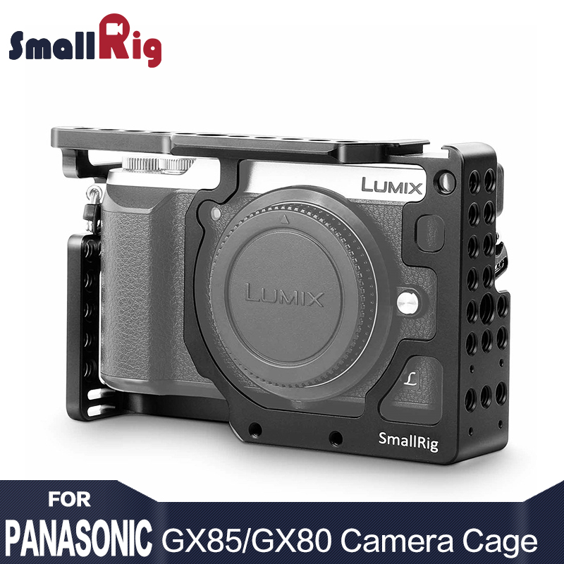 SmallRig Dual Aluminum Alloy Camera Cage for Panasonic Lumix DMC GX85 / GX80 / GX7 Mark II Form Fitting Cage 1828