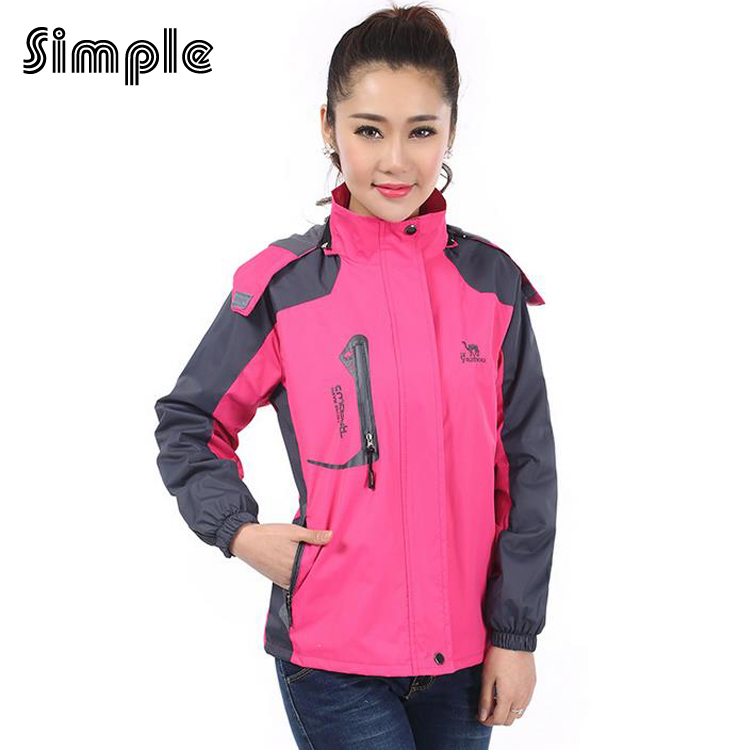 ФОТО Hot sale Good quality windproof waterproof 5 Colour 800g warm For Women's jacket Softshell jacket hiking camping outdoor jackets