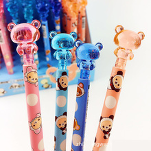 цены Cute Kawaii Rilakkuma Crystal Press Mechanical Pencil Automatic Pen for Writing Drawing School Office Supply Student Stationery
