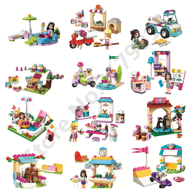 Captivating 26types Friends Series Houses Animals Emma/Mia Cat Play Pet House Building  Blocks Girls Princess