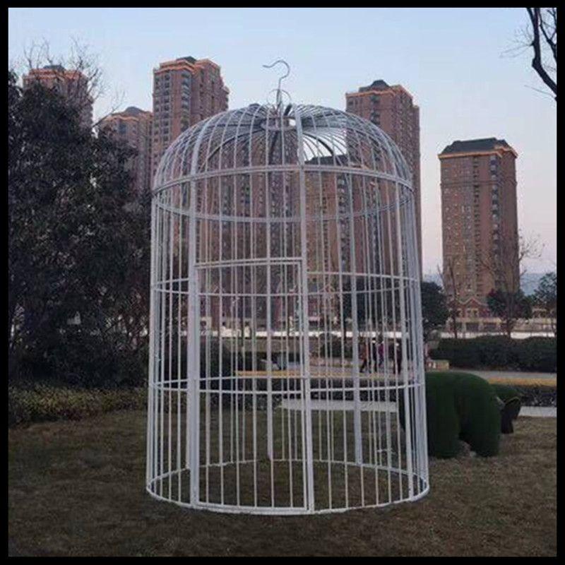 Super grande cage à oiseaux en fer forgé paon décoration de mariage personnalisée accessoires cage à oiseaux affichage extérieur grande cage - 3