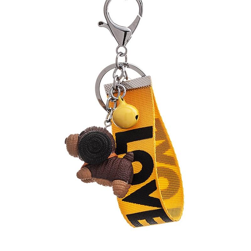 2019 New Fashion Jewelry Cute Korean Creative Cartoon Puppy Keychain Pvc Stereo Personalized Gift Car Key Ornaments Small Goods