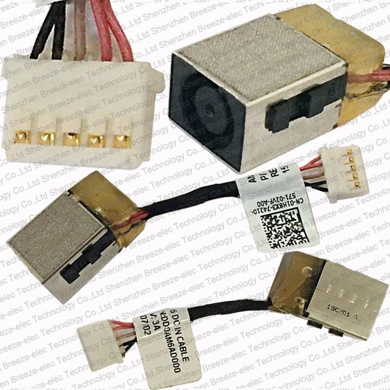 5pcs / lot Livraison Gratuite Véritable NOUVEAU Ordinateur Portable AC DC-IN Câble D'alimentation Pour Dell Inspiron 15 7547 01H8X3 1H8X3 DD0AM6AD000