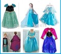 free shipping  ice Elsa Costume  Size For Kids Princess Dress Sequined Cosplay party  Costume  Anna Dress girl dresses