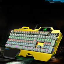 2017 Cool Rainbow Led Backlight Metal Aolly Mechanical Keyboards Super Feeling Computer Gaming Keyboard Programmer Keyboard