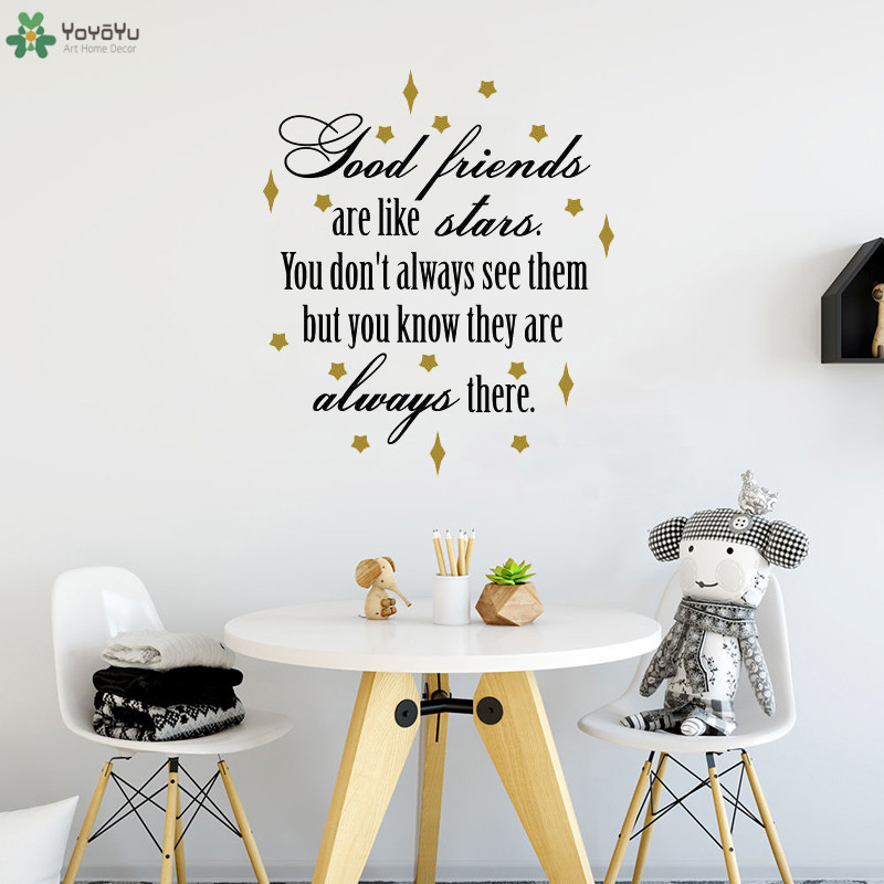 Hot Sale Yoyoyu Wall Decal Creative Quote Good Friends Are Like