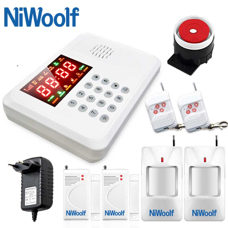 Wireless GSM Alarm System Fashion design 433MHz Support English Russian Spanish Wireless Alarm System Cheap Price Free Shipping free shipping hot selling new fashion wireless gsm alarm system 433 mhz 315mhz support english russian spanish language