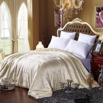 Бренд 100% шелк тутового шелкопряда кашне для зимы/лето Королева Полный размер двойной одеяло/одеяло с наполнителем/вставка белый/красный цв...