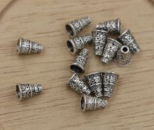 Hot ! 20pcs Antiqued Silver Bali Style Bead End Caps Cones 7mmx7mmx10mm ab766